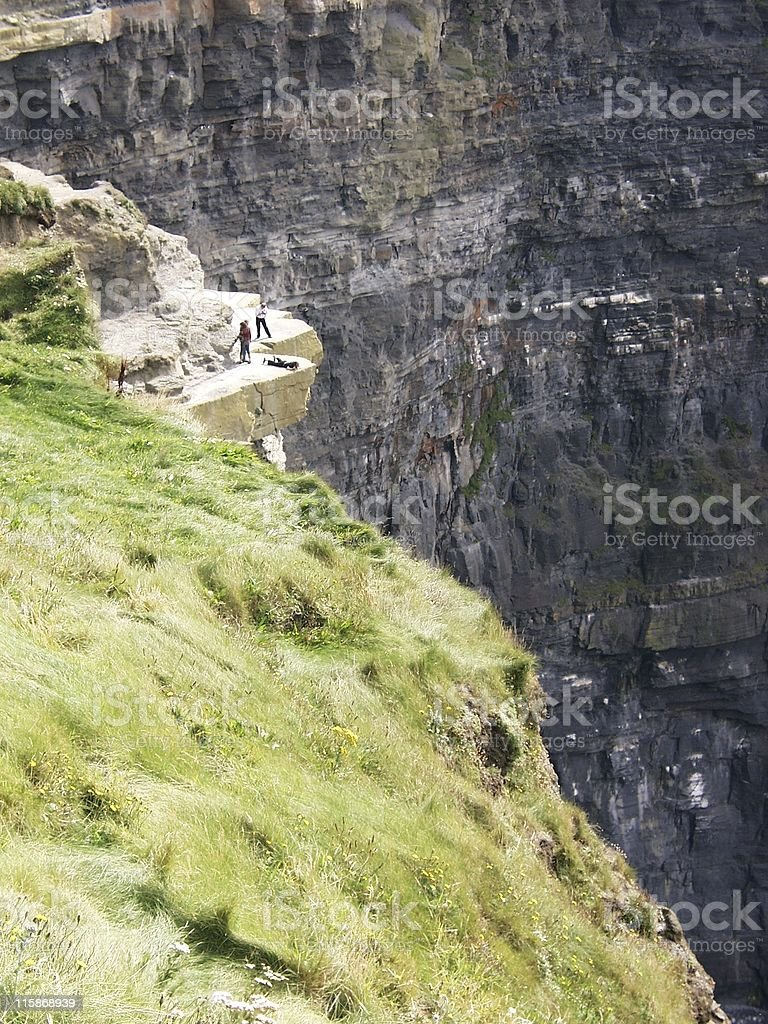 On the Cliffs of Moher royalty-free stock photo