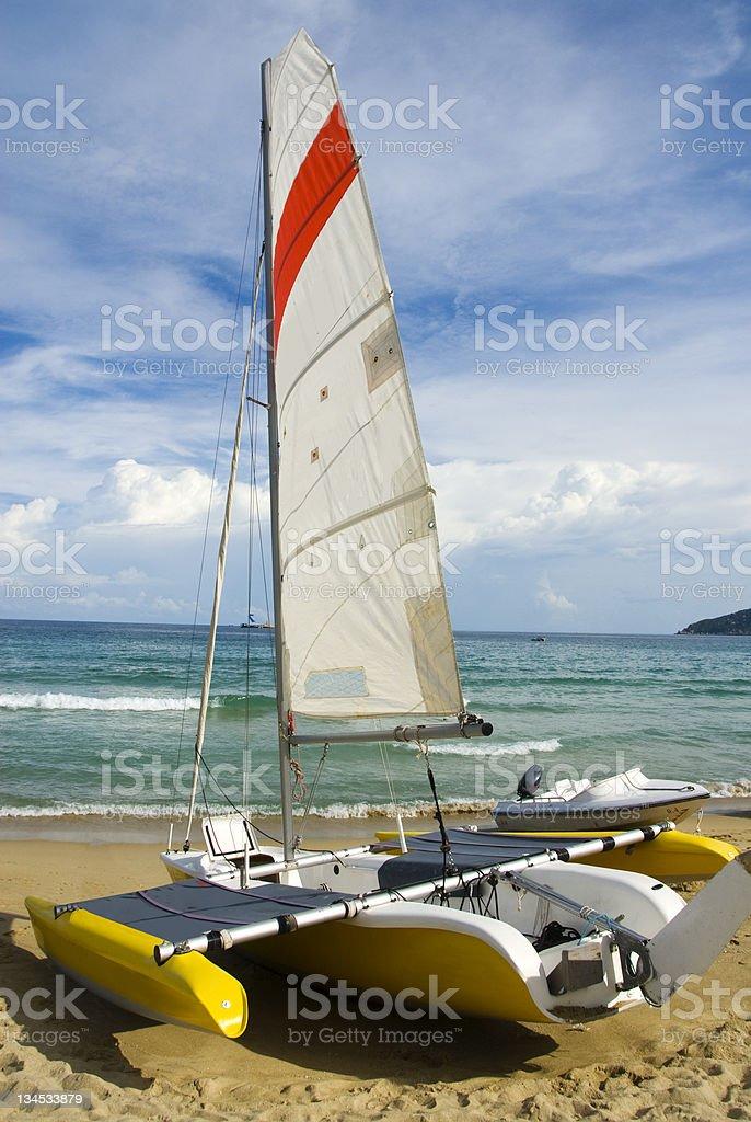 On the coast of sailing stock photo