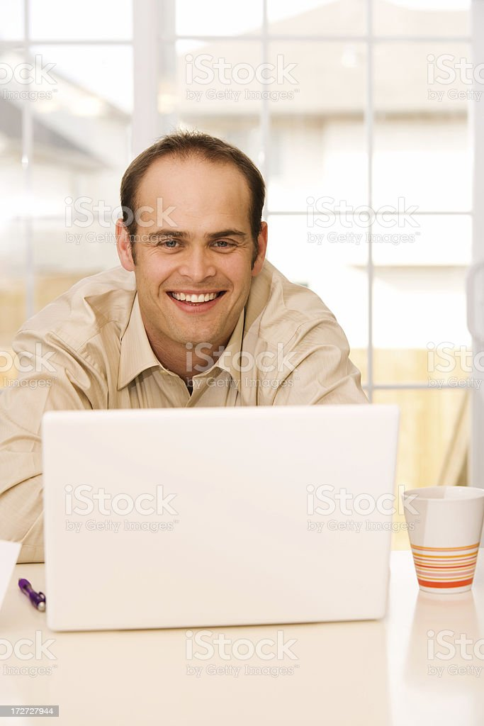On the Computer royalty-free stock photo