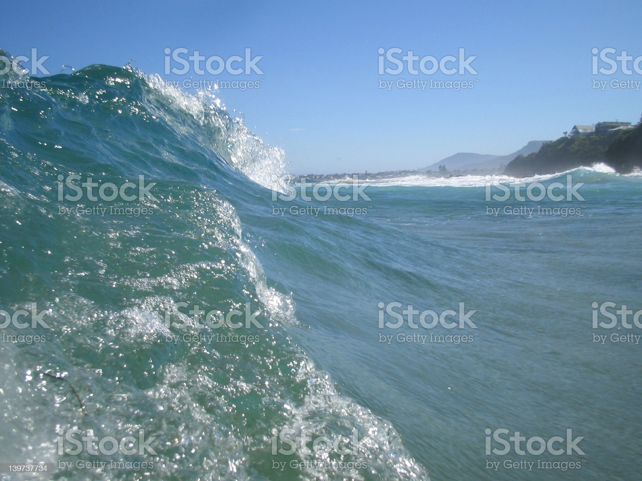 On the crest of a wave royalty-free stock photo