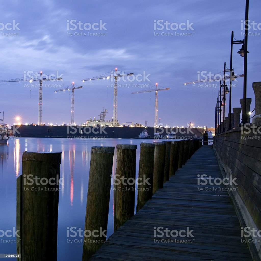 On The  Docks of Norfolk Virginia royalty-free stock photo