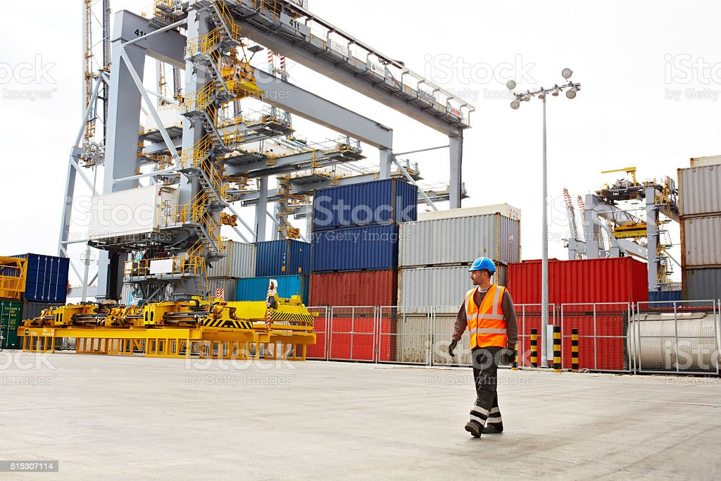 On the dockyards stock photo