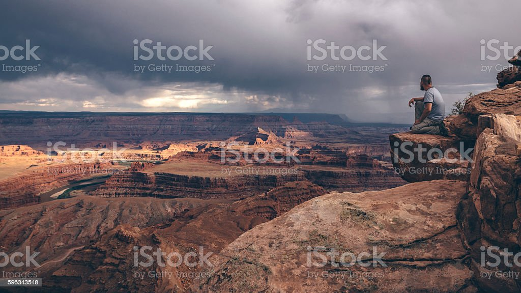 On the edge of Canyonlands stock photo