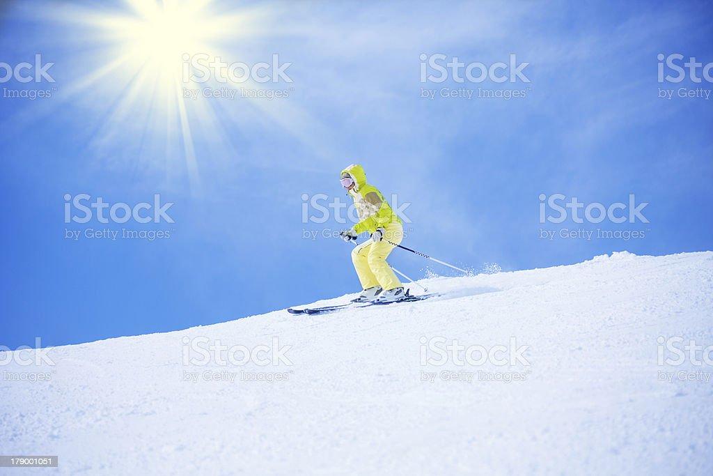 On the edge of mountain royalty-free stock photo