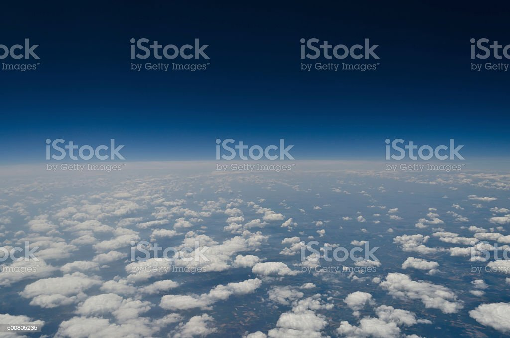 On the edge of the Earth stock photo