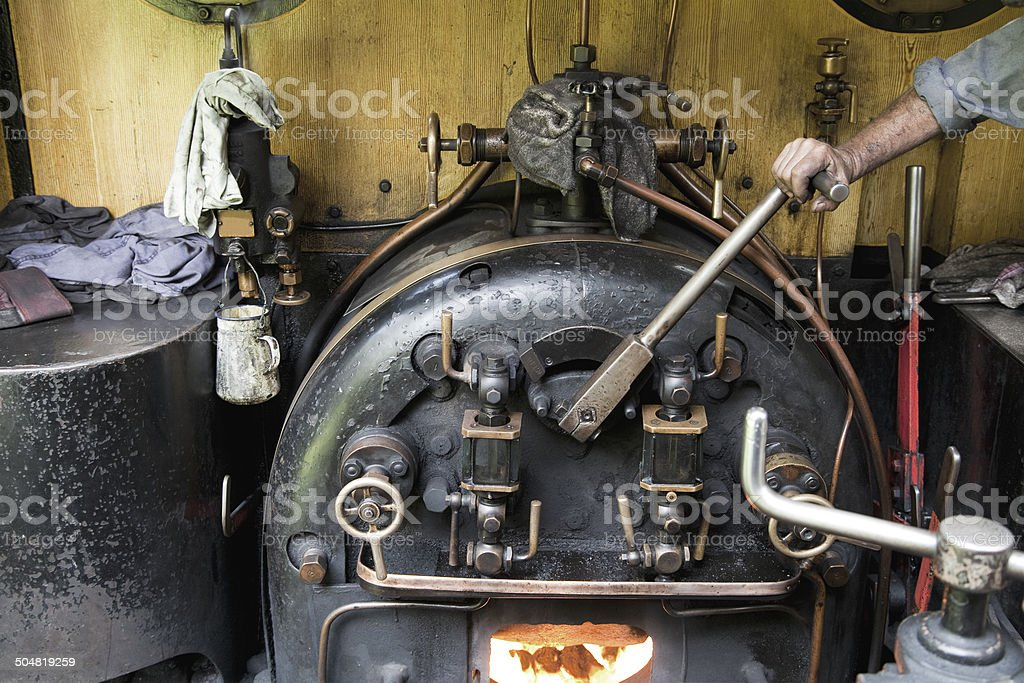 On the footplate stock photo