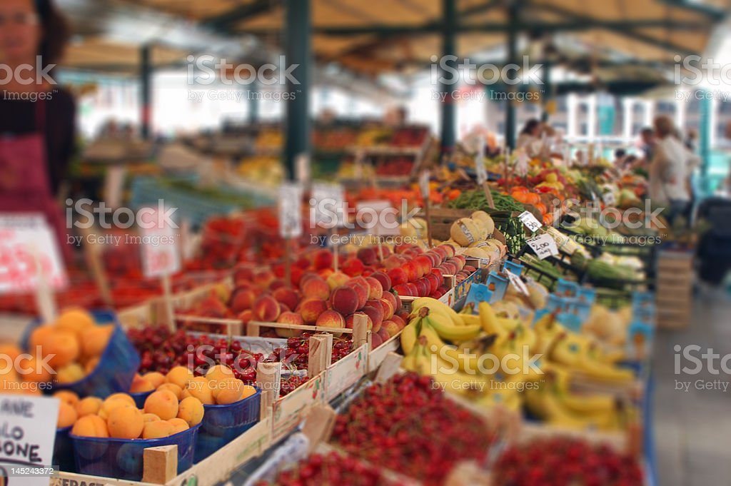 On the Fruit Market stock photo