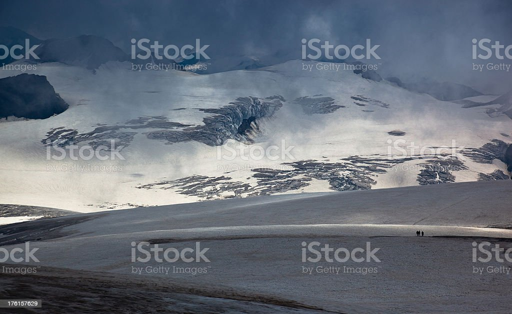 On the glacier royalty-free stock photo