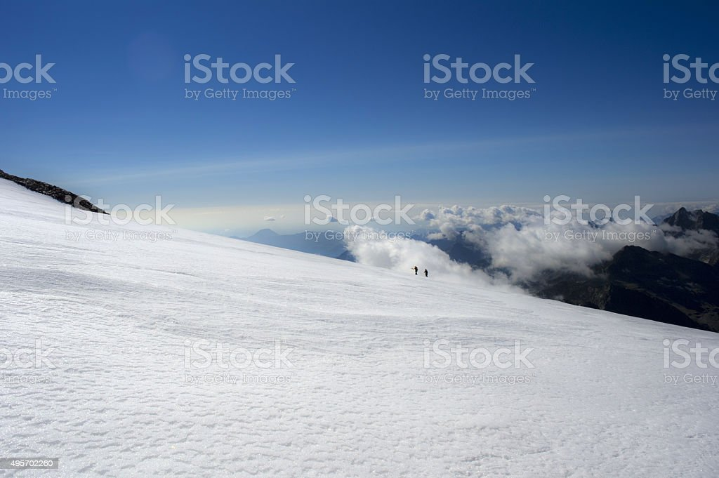 on the glacier stock photo