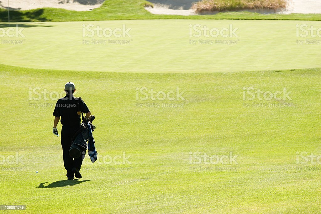 On the golf course royalty-free stock photo