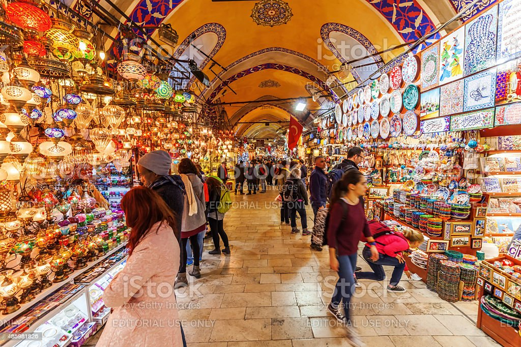 on the Grand Bazaar in Istanbul stock photo