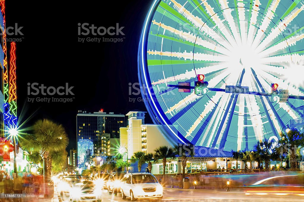on the grand strand at myrtle beach stock photo