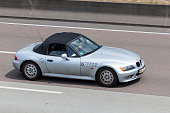 BMW Z3  on the highway