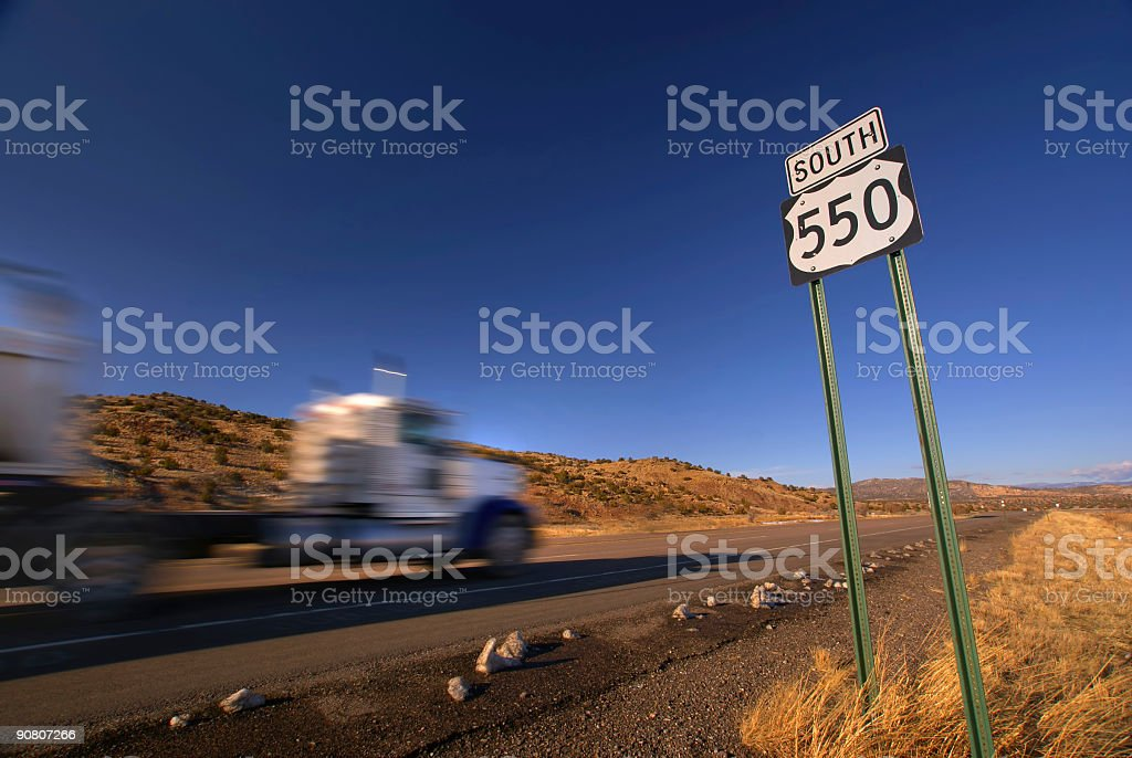 on the highway! royalty-free stock photo