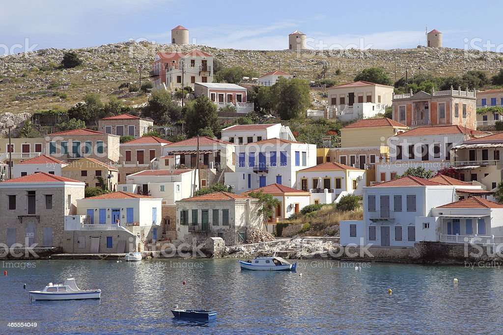 on the island of Chalki, Greece royalty-free stock photo