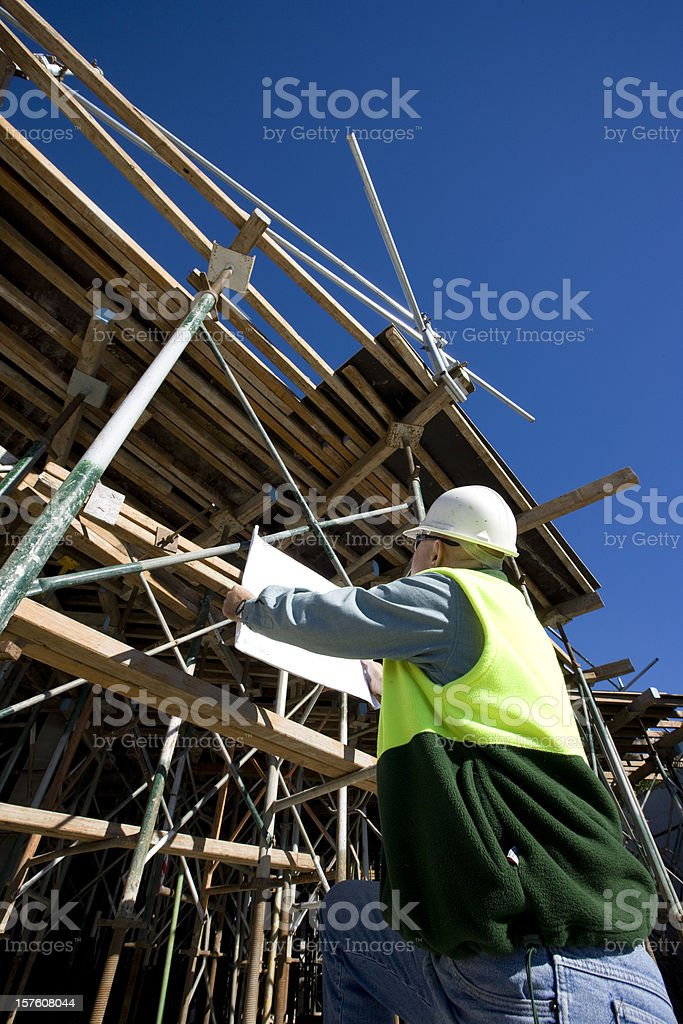 On the job royalty-free stock photo