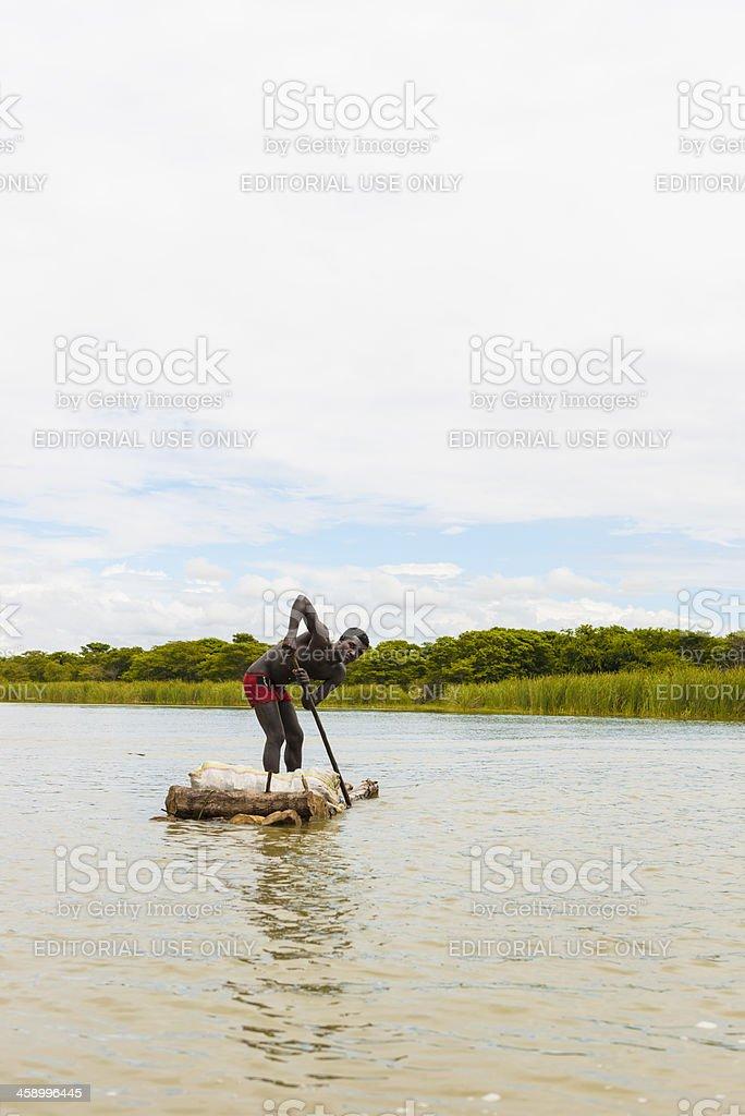 On the lake Chamo stock photo