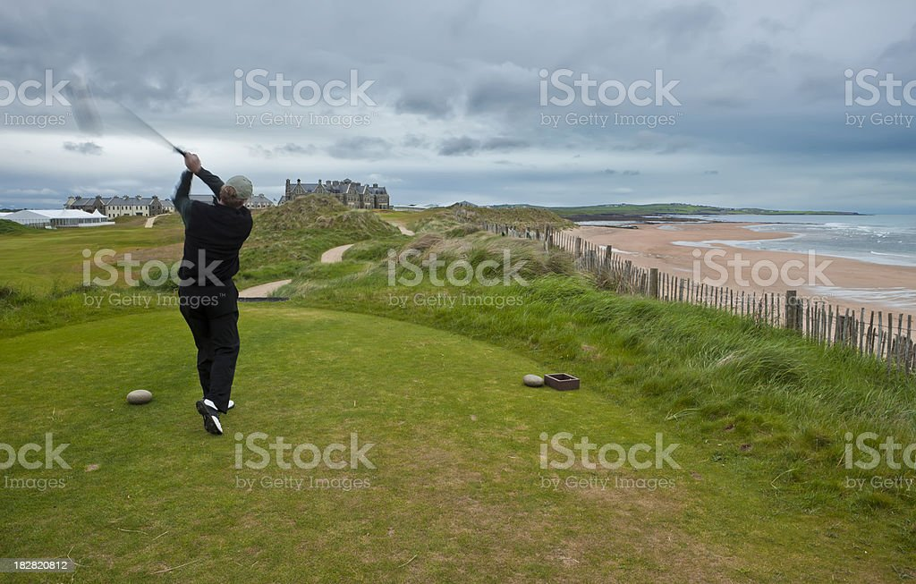 On the Links in Ireland royalty-free stock photo