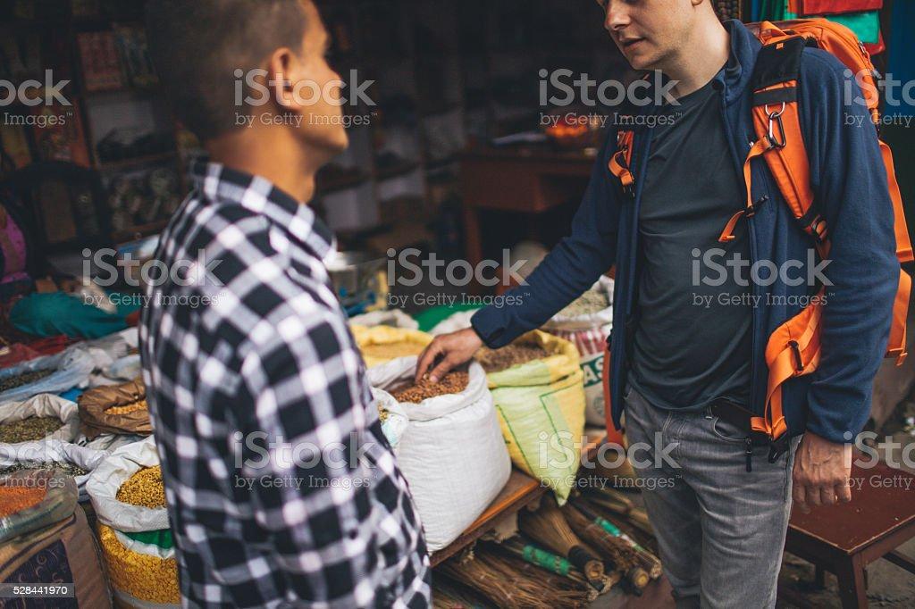 On the local flea market stock photo