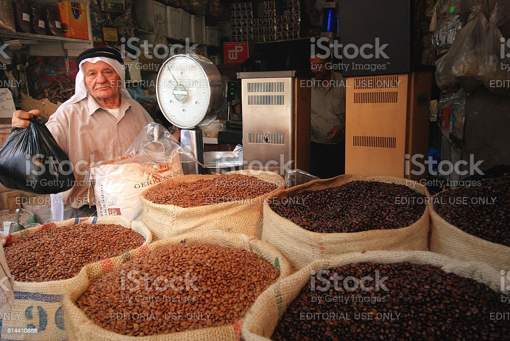 On the market in Oman stock photo