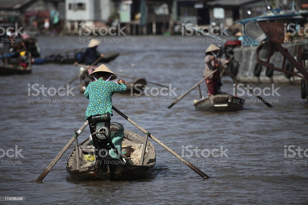 Auf dem Mekong in Vietnam royalty-free stock photo