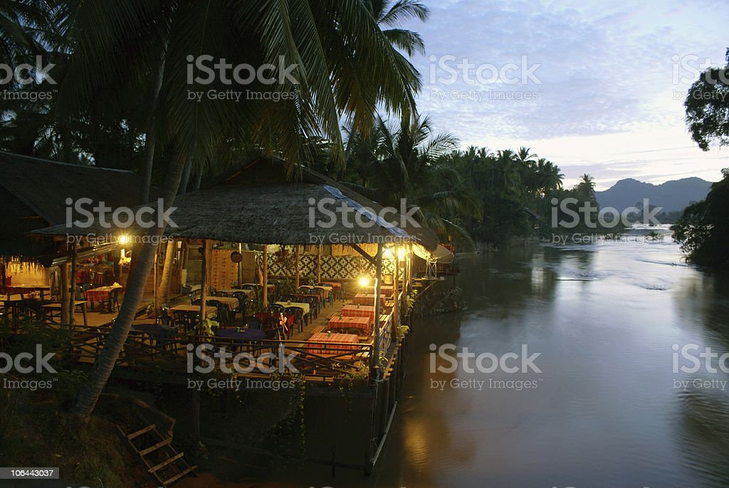 On the Mekong royalty-free stock photo