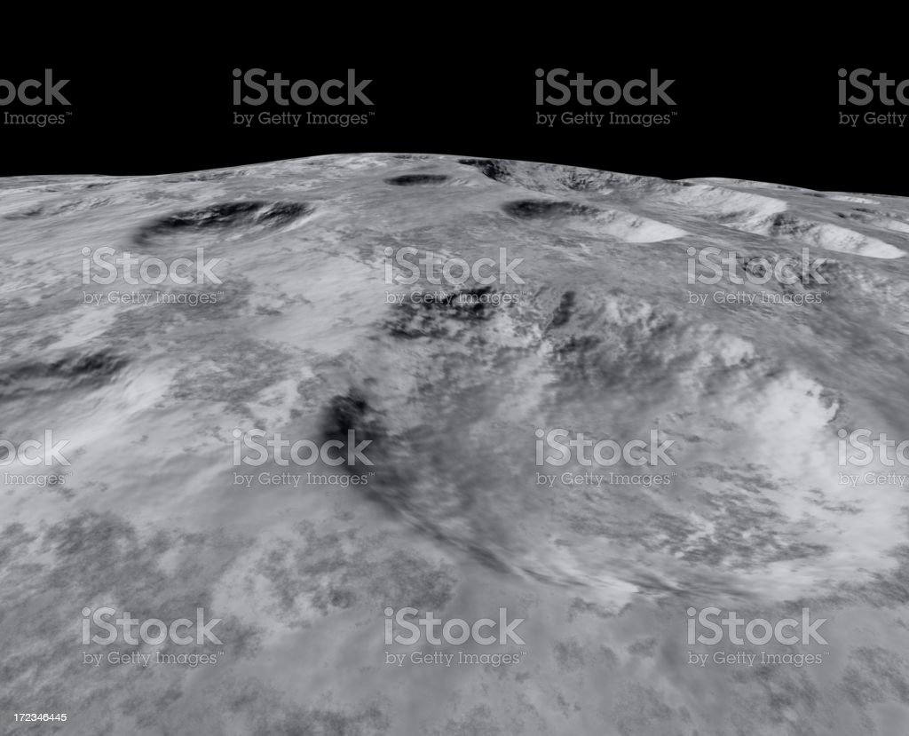 On the moon royalty-free stock photo