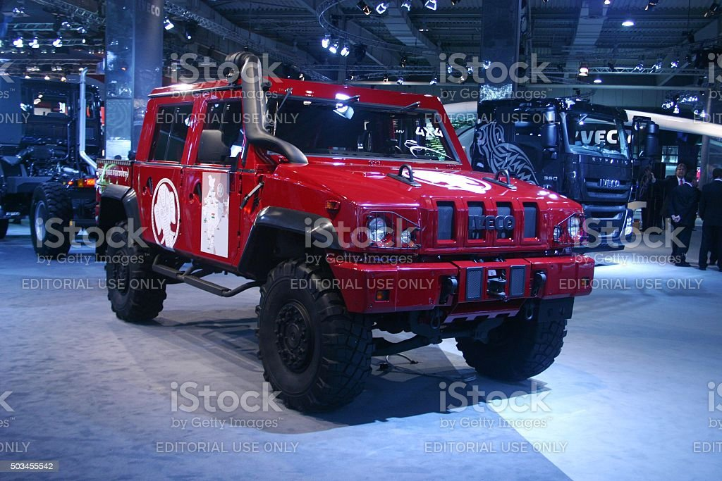 IVECO LMV on the motor show stock photo