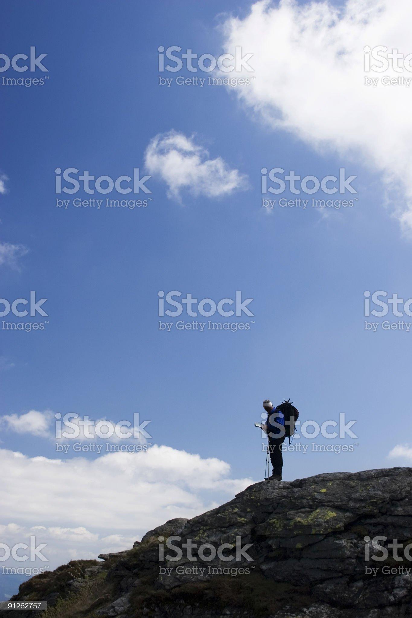 on the mountain royalty-free stock photo