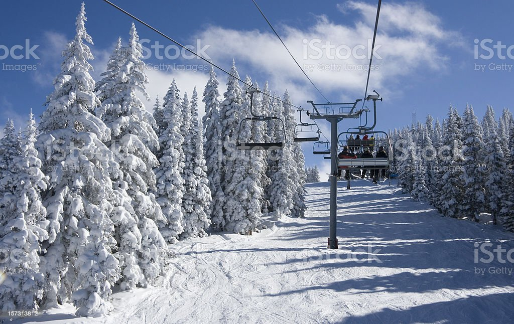 On the Mountaintop Express at Vail stock photo