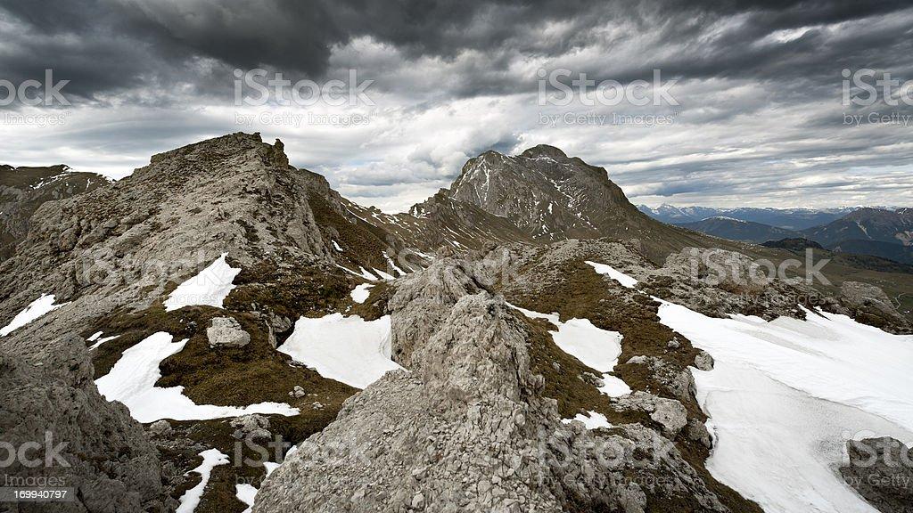 On the mountaintop stock photo
