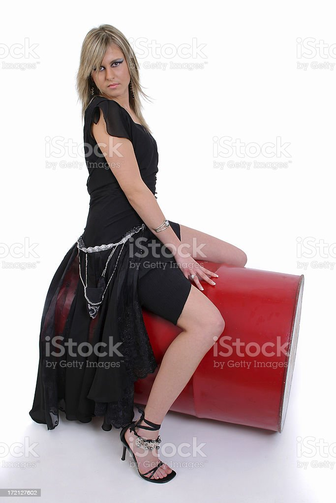 On the oil barrel royalty-free stock photo