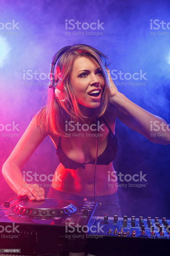 DJ on the party royalty-free stock photo