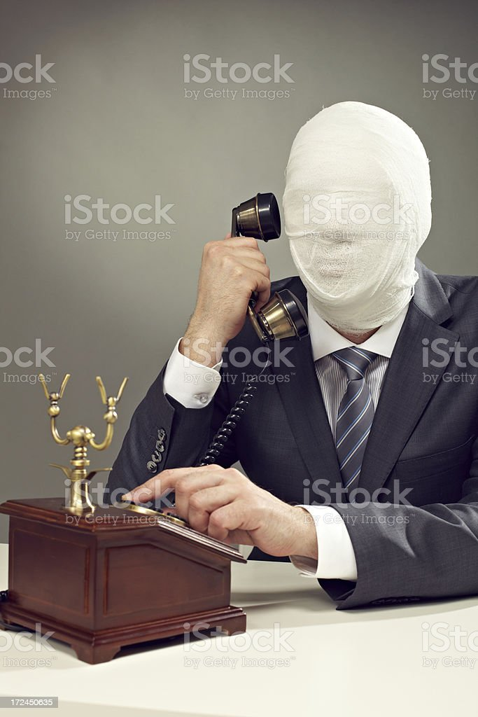 On the phone royalty-free stock photo