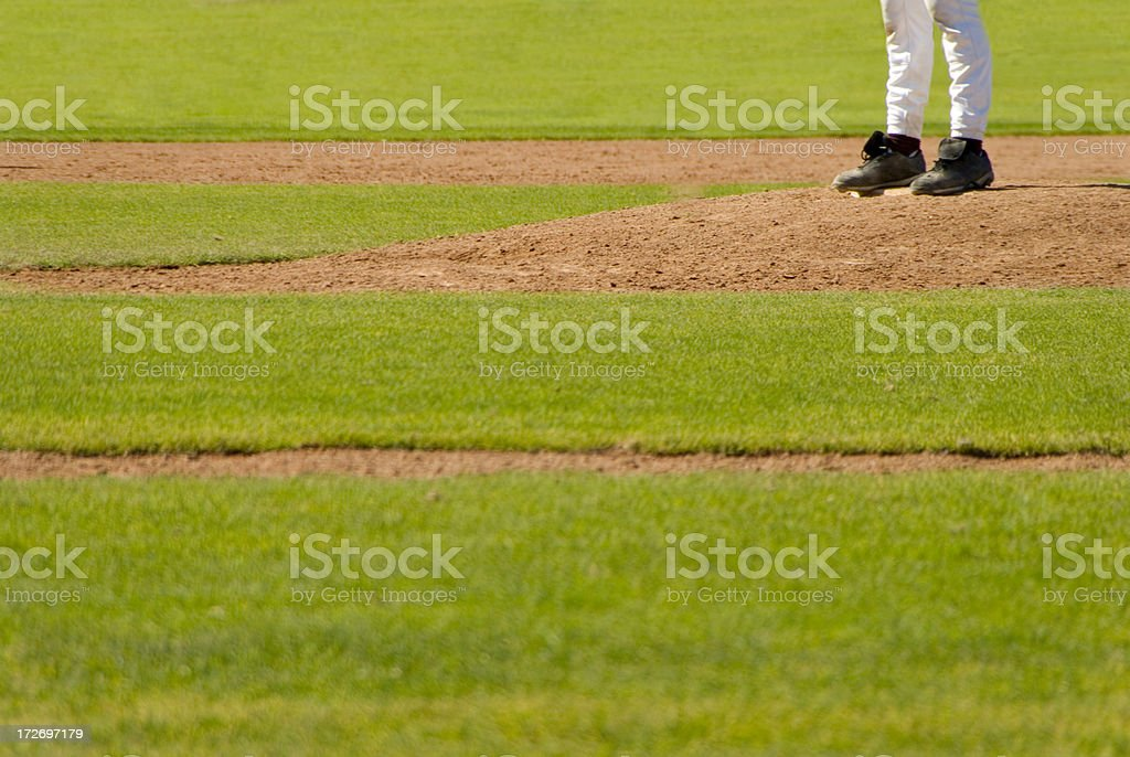 On the pitching mound stock photo