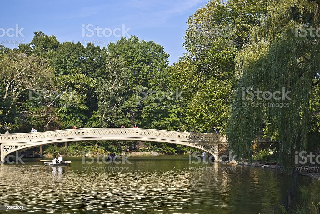 On the Pond, Central Park royalty-free stock photo