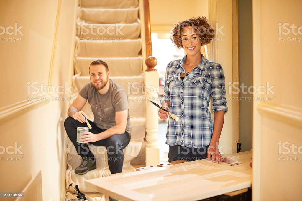 on the property ladder stock photo