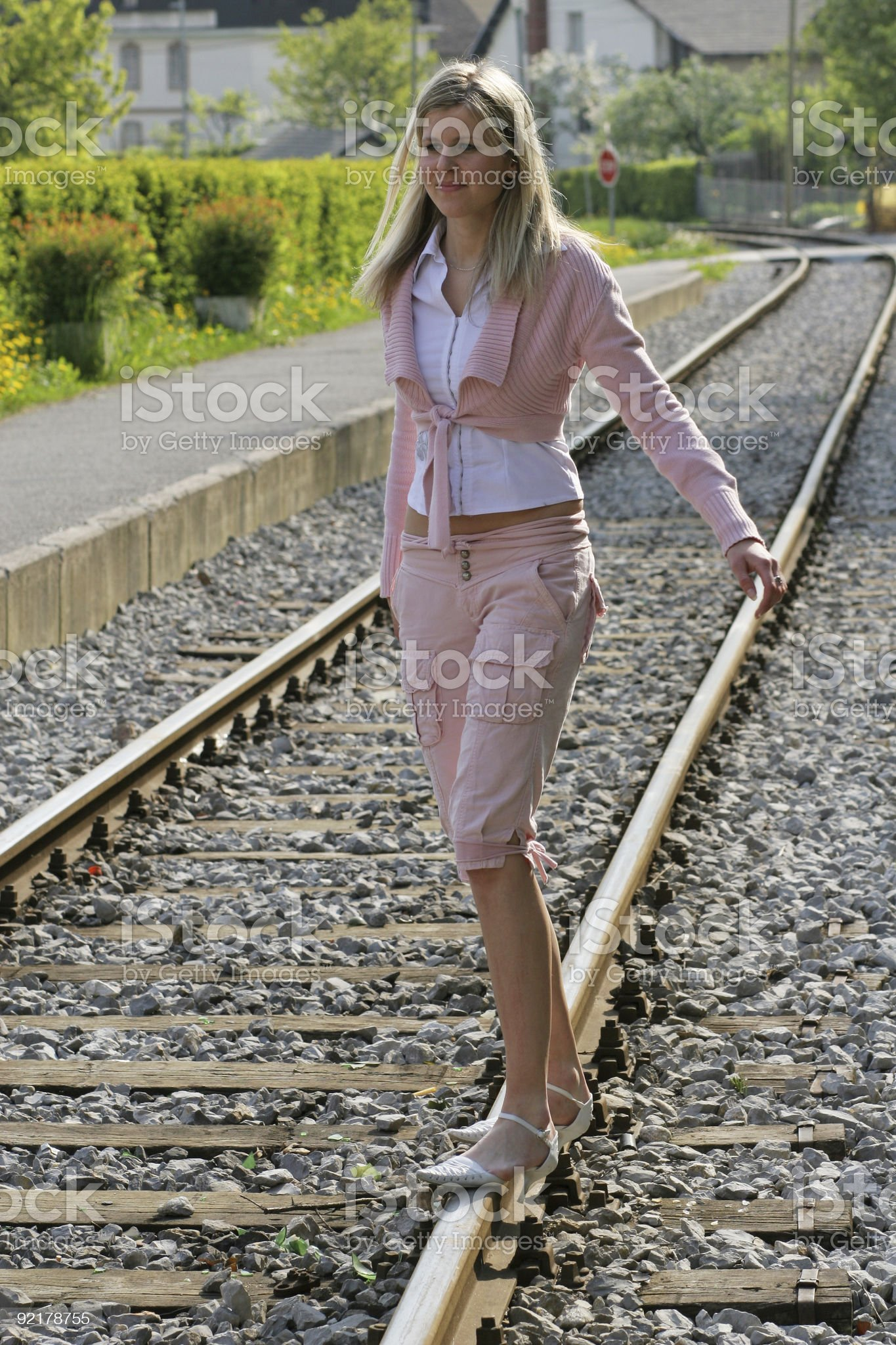 On the rails royalty-free stock photo