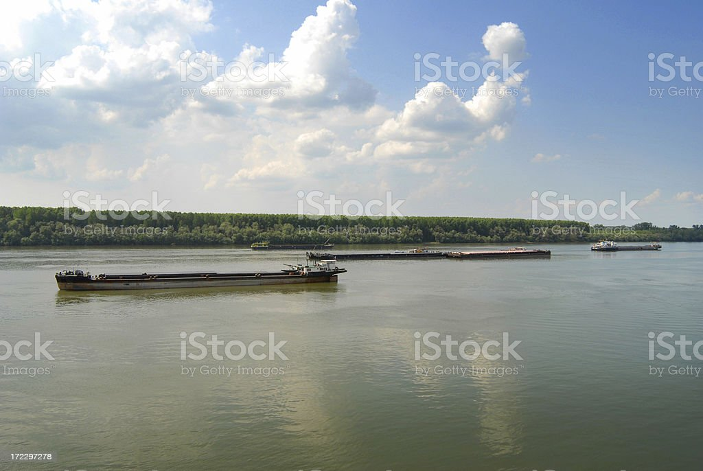 on the river Danube stock photo