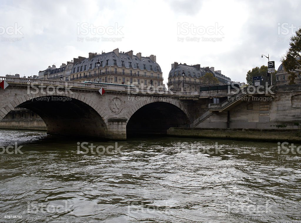 On the River Seine at Pont Neuf stock photo