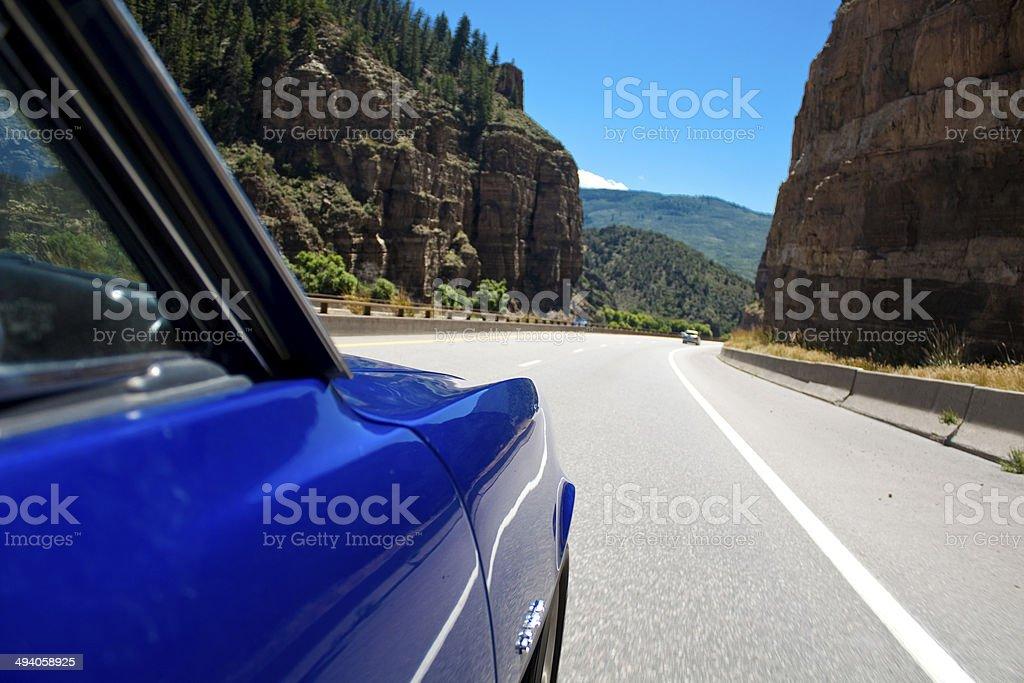 On the Road Glenwood Canyon stock photo