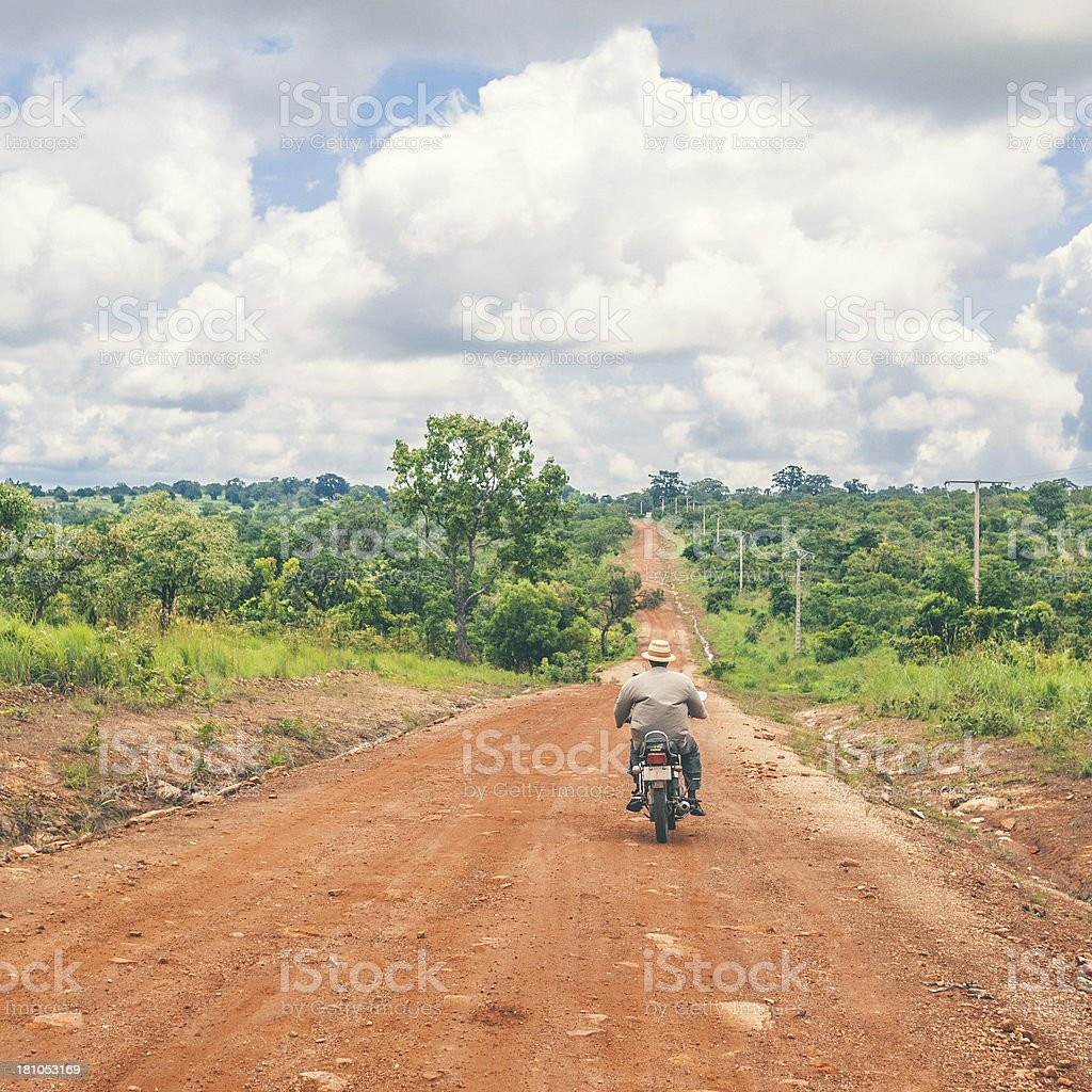 On the road in africa. royalty-free stock photo