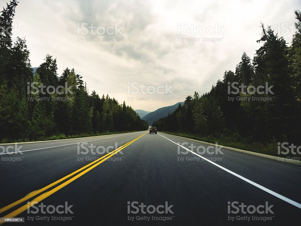 on the road in north america stock photo