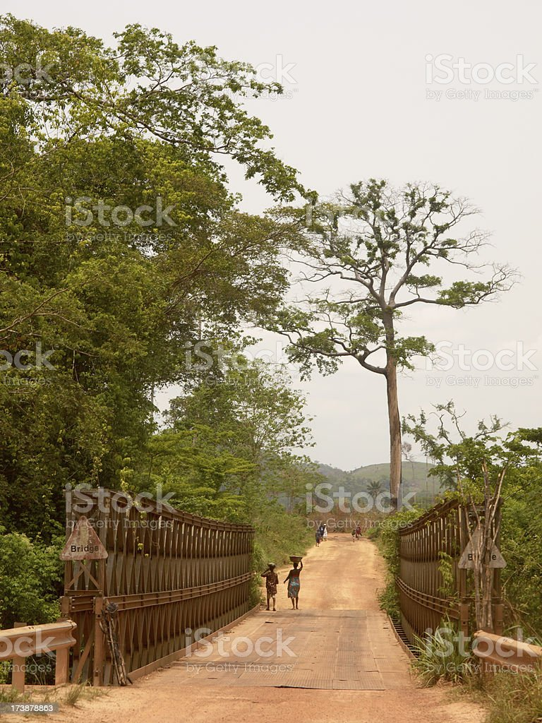 On the road in Sierra Leone stock photo