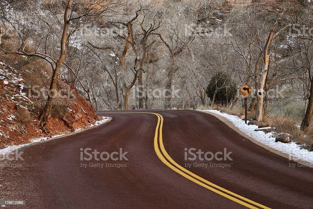 On The Road in Zion royalty-free stock photo