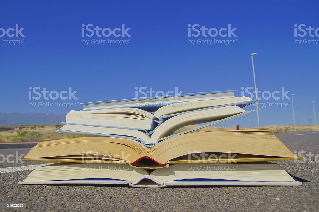 On the Road Literature Concept royalty-free stock photo