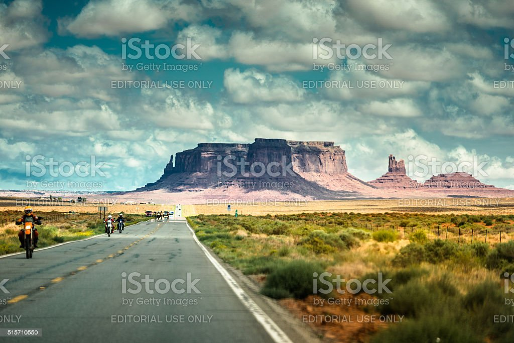 on the road on the Monument valley national park stock photo