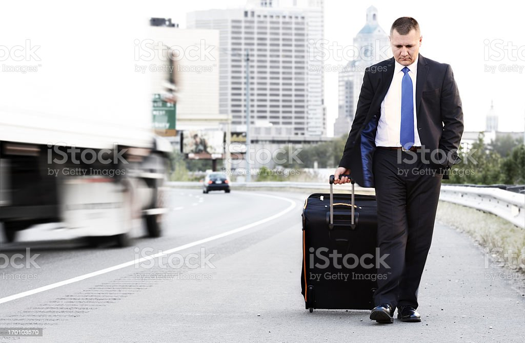 On the road. stock photo