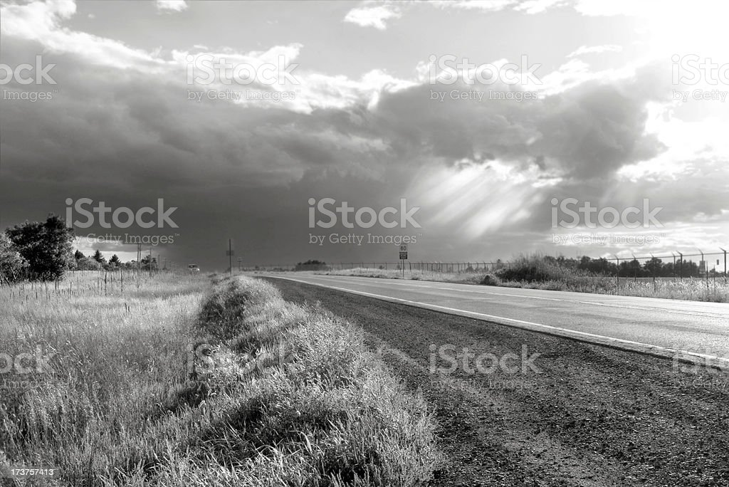 On The Road To Brighter Days royalty-free stock photo