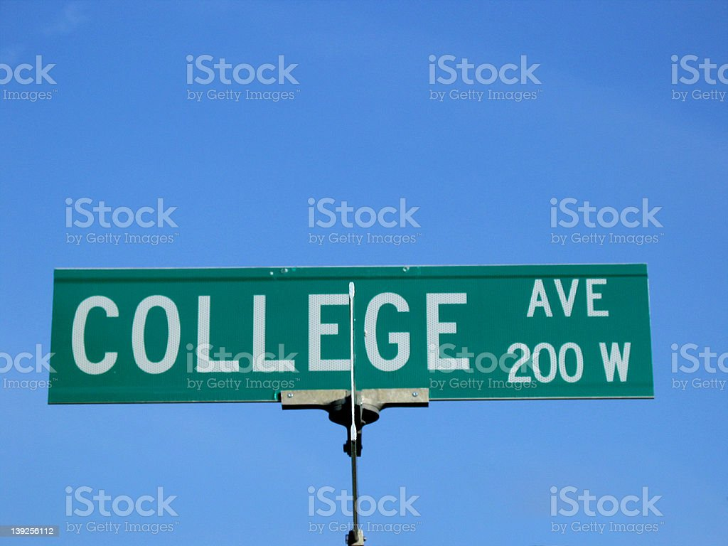 On the Road to College stock photo